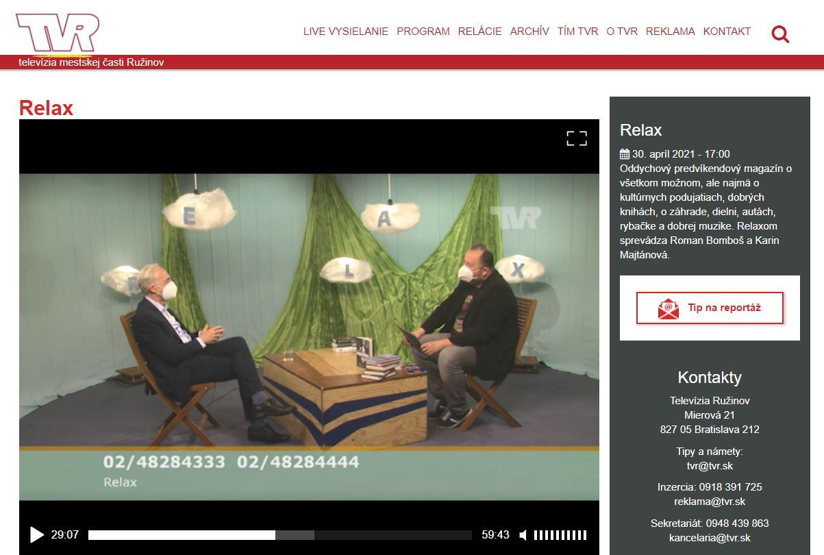TV Ružinov, 30.4.2021